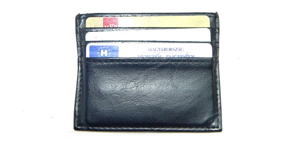 VIA55 Bőr pénztárcaVIA001A. fekete bőr pénztárca ea7b906f3a